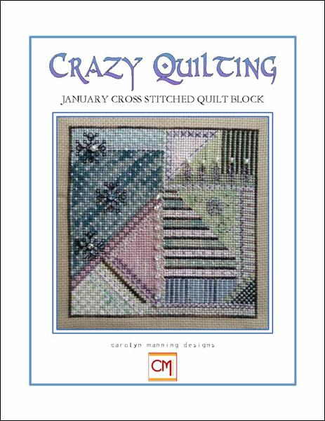 click here to view larger image of Crazy Quilting - January Block (chart)
