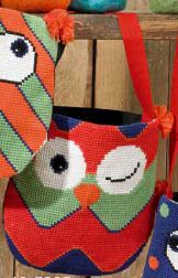 click here to view larger image of Owls Bag - Winking (counted cross stitch kit)