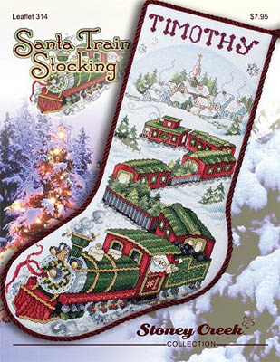 click here to view larger image of Santa Train Stocking (chart)