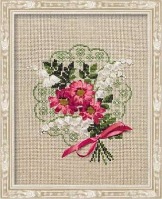 click here to view larger image of Bouquet of Love (counted cross stitch kit)
