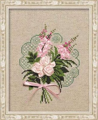 click here to view larger image of Bouquet of Tenderness (counted cross stitch kit)