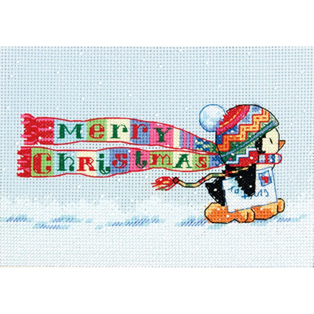click here to view larger image of Christmas Penguin (counted cross stitch kit)