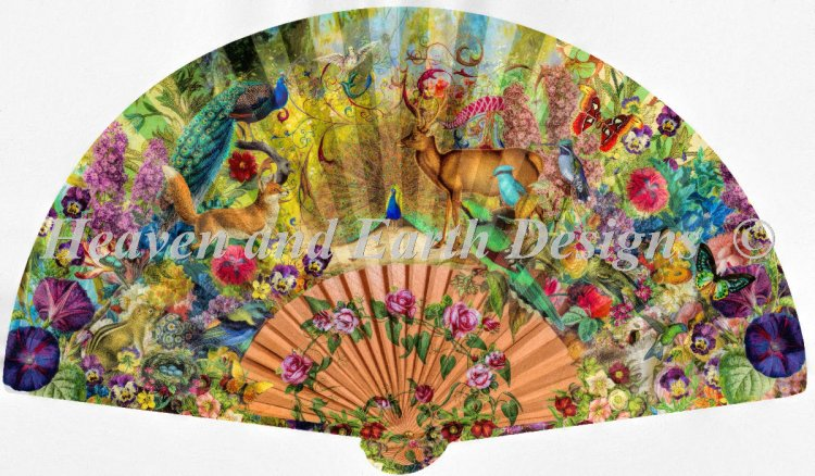 click here to view larger image of Supersized Abundant Garden Fan (chart)