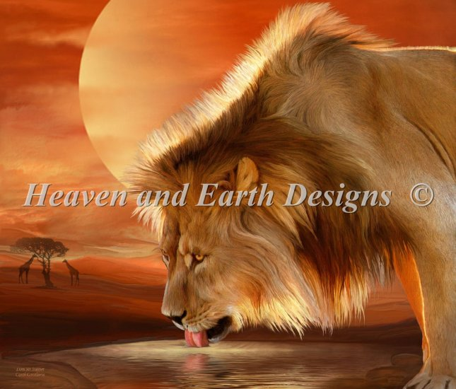 click here to view larger image of Lion At Sunset (chart)