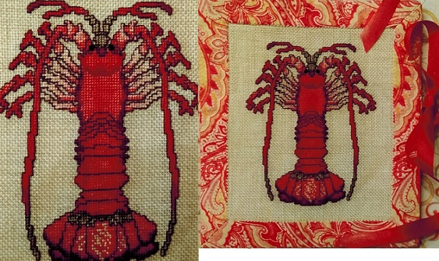 click here to view larger image of Louis Lobster Needlebook (counted cross stitch kit)