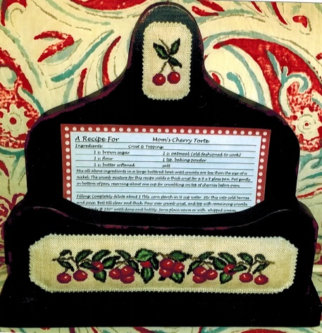 click here to view larger image of Cherry Recipe Box (counted cross stitch kit)