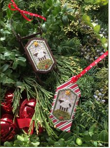 click here to view larger image of Noel Sheep Tag / Sled Kit (counted cross stitch kit)