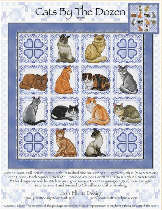 click here to view larger image of Cats By the Dozen (chart)