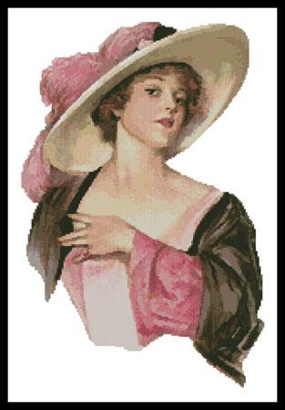 click here to view larger image of Victorian Pink Hat (chart)