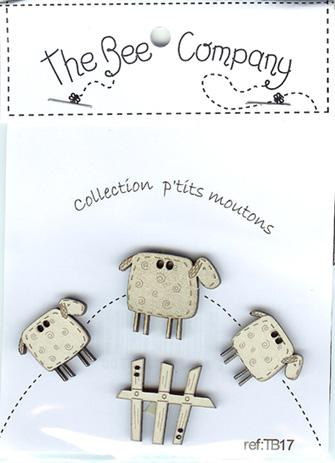 click here to view larger image of Little Sheep Buttons (buttons)