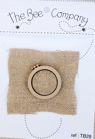 click here to view larger image of Mini Embroidery Hoop (buttons)