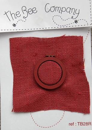 click here to view larger image of Mini Embroidery Hoop - Red (buttons)