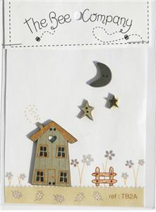 click here to view larger image of Autumn House and Moon Buttons (buttons)