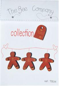 click here to view larger image of Gingerbread Men - Christmas Collection Buttons (buttons)