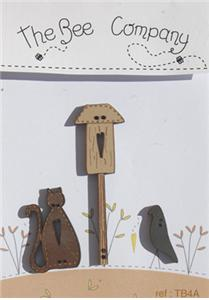 click here to view larger image of Cat Crow Birdhouse - Autumn Buttons (buttons)