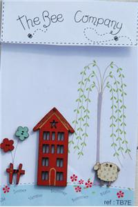 click here to view larger image of 4 Seasons House - Summer Buttons (buttons)