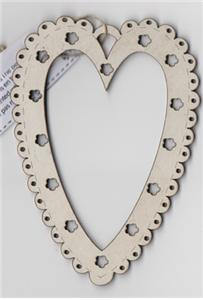 click here to view larger image of Cream Mini Heart Frame (frame (ready made))