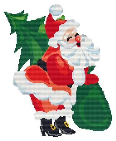 click here to view larger image of Laughing Santa (chart)