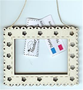 click here to view larger image of Cream Mini Rectangle Frame (frame (ready made))