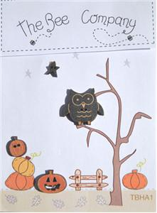 click here to view larger image of Owl and Pumpkins - Halloween Collection Buttons (buttons)