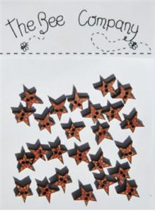 click here to view larger image of Red Mini Star Buttons (buttons)