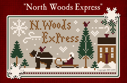 click here to view larger image of North Woods Express - Floss Pack (includes chart) (fiber)