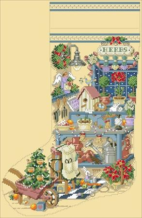click here to view larger image of Gardener's Delight Heirloom Stocking (chart)