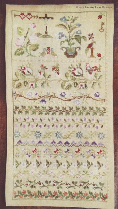 click here to view larger image of Maria Ceron 1830 - Floral Band Sampler (chart)