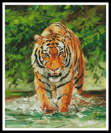 click here to view larger image of Amur Tiger On Water (chart)