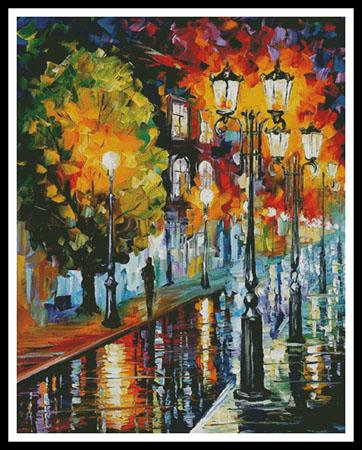 click here to view larger image of After A Night Rain - Large  (Leonid Afremov) (chart)