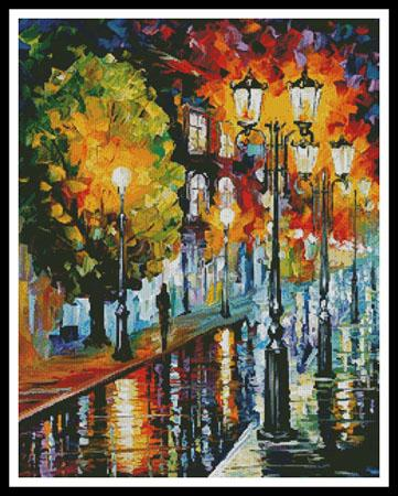 click here to view larger image of After A Night Rain - Regular  (Leonid Afremov) (chart)
