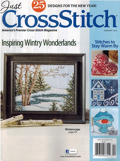 click here to view larger image of Just Cross Stitch - February 2016 (magazines)