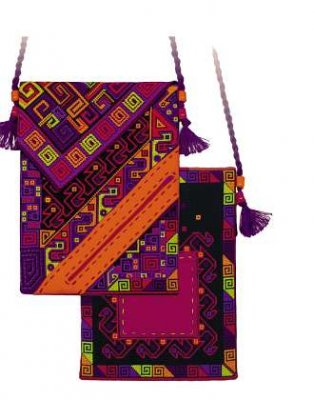 click here to view larger image of Aztecs Bag (counted cross stitch kit)