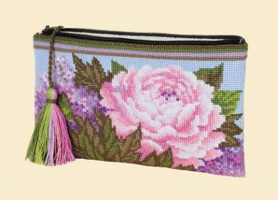 click here to view larger image of Cosmetic Bag - Summer Bouquet (counted cross stitch kit)