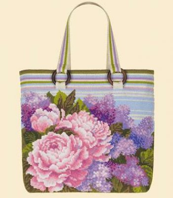 click here to view larger image of Tote Bag - Summer Bouquet (counted cross stitch kit)