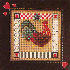 click here to view larger image of Folk Art Rooster (counted cross stitch kit)