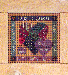 click here to view larger image of Celebration of Love (counted cross stitch kit)