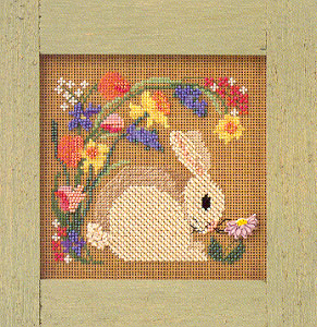 click here to view larger image of Blooming Bunny (counted cross stitch kit)