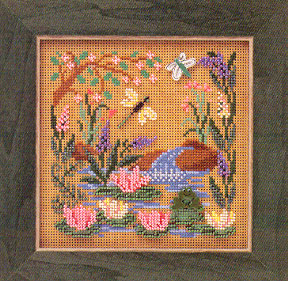 click here to view larger image of Frog Pond (counted cross stitch kit)