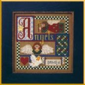 click here to view larger image of Angel Gathering (counted cross stitch kit)