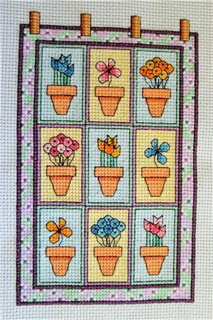 click here to view larger image of Quilted Flowers (chart)
