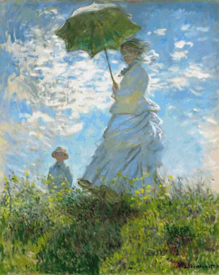 click here to view larger image of Woman With A Parasol - Madame Monet and Her Son (chart)