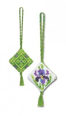 click here to view larger image of Iris Chatalaine (counted cross stitch kit)