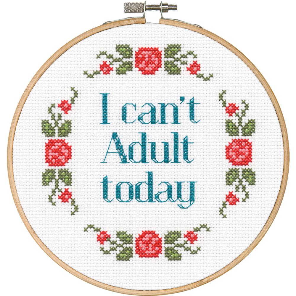 click here to view larger image of Say It! - Can't Adult (counted cross stitch kit)