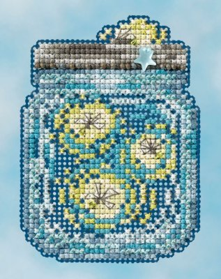 click here to view larger image of Fireflies - Spring Bouquet 2016 (counted cross stitch kit)