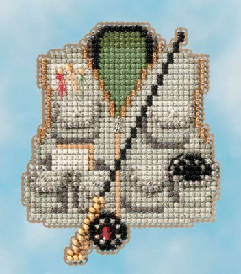 click here to view larger image of Fishing Vest - Spring Bouquet 2016 (counted cross stitch kit)