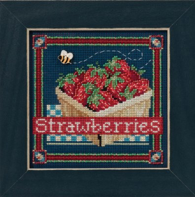 click here to view larger image of Strawberries (counted cross stitch kit)