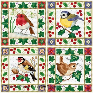 click here to view larger image of Christmas Birds - Mini Motifs / Cards (chart)