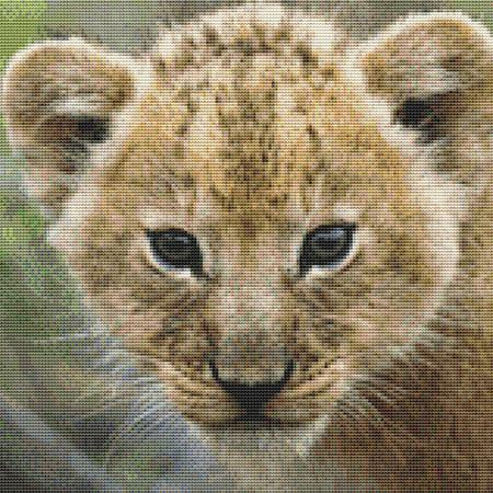 click here to view larger image of Cute Lion Cub (chart)