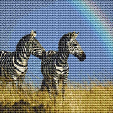click here to view larger image of Zebras and a Rainbow (chart)